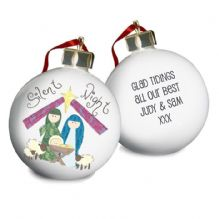 Nativity Silent Night Bauble